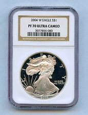 2004 W NGC PF70 SILVER EAGLE *ULTRA CAMEO* WEST POINT *PERFECT* -048