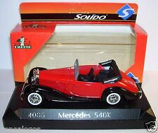 SOLIDO MERCEDES 540 K ROUGE 1939 CABRIOLET OUVERT REF 4086 1/43 IN BOX bis