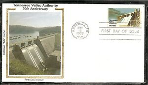 US SC # 2042 Tennessee Valley Authority FDC. Colorano Silk Cachet.