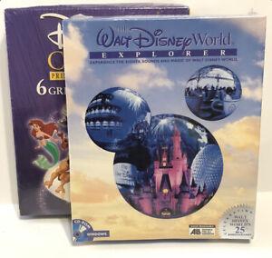 (LOT OF 2) Walt Disney World Explorer 25th & Classic Print Studio Windows Cd Rom