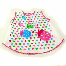New Waterproof EVA Baby Toddler Easy Wipe sleeveless apron art smock girl.