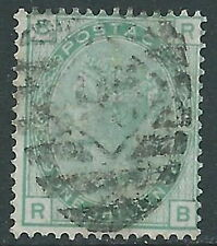 1873-80 GREAT BRITAIN USED SG 150 1s GREEN PLATE 13 (RB)