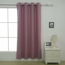 """Deconovo Insulated Grommet Thermal Curtains for Baby Room 52"""" x 63"""" Dry Rose"""