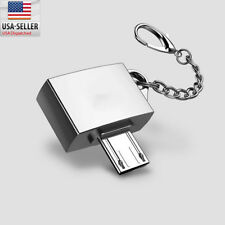Mini Metal Micro USB To USB 2.0 OTG Adapter Converter For OTG Smart Phone