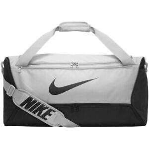 Nike Brasilia Bag Grey BA5955-077 Sports Bag Holdall School Size Medium NEW UK
