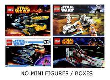 LEGO 7256, 7913, 8016, & 75039 - Star Wars - 4 Set Lot - NO MINI FIGURES / BOX