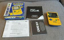 Boxed Nintendo Game Boy Pokemon Special Edition Games Console
