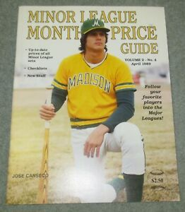 ☆ RARE Minor League Monthly Price Guide APRIL 1989 Jose CANSECO Baseball Cards