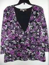 Croft & Barrow Women's Lined Blouse Top Floral  sz. XL