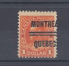 QUEBEC #4-122 $1.00 Admiral precancel Canada left end nice
