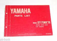Ersatzteilliste / Spare Parts List Yamaha DT 125 E / DT125E '79 Stand 09/1978