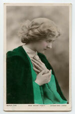 c1907 Edwardian actress MAUDE FEALY Theater original British photo postcard