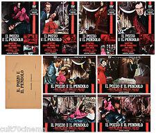 IL POZZO E IL PENDOLO SET FOTOBUSTA 8 PZ. CORMAN PRICE 1961 PIT AND THE PENDULUM
