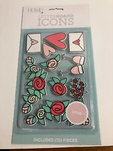Home Letter Board Icons - Love - 15 Pieces Brand New Sealed