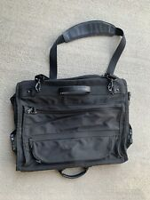 Tumi Tri-Fold Garment Bag Leather With Strap Excellent Shape Very Clean Used