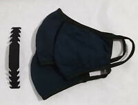 3 pack Dark Green Face Mask Large Adult Unisex Cotton Washable w/strap