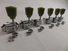 Guitar Tuners Machine Heads Vintage x 6 For LP SG Tulip Style 3L + 3R Chrome New