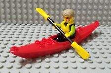 LEGO New City Fun at the Beach Minifigure Jungle Kayak Canoe Boat with Paddle