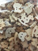 10 bouton tête de lapin 2 trous scrapbooking couture bricolage 13x16 mm bébé art