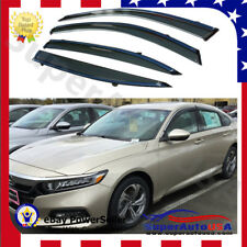 Fit FOR 2018 Honda ACCORD  OE STYLE Chrome Trim WINDOW VISOR RAIN/SUN VENT SHADE