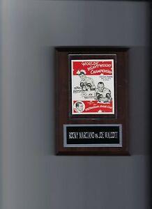 ROCKY MARCIANO vs JOE WALCOTT POSTER PLAQUE BOXING PHOTO PLAQUE