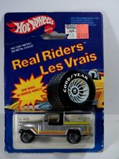 HOT WHEELS 1983 Real Riders silver Jeep Scrambler grey RR on Canada France Card