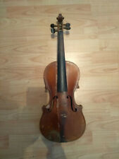 Alte Geige mit Zettel inkl. Bogen u. Koffer zum Restaurieren