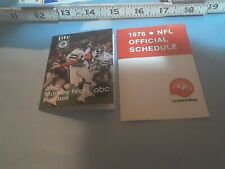 2 schedulesNFL 1979 ABC Monday Night Football & 1976 NFL league