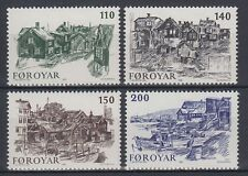 Färöer 1981 ** Mi.59/62 Stadt City   Alt-Tórshavn   Stadtteil District