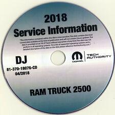 2018 Dodge Ram 2500 Truck Shop Service Repair Manual Cd Tradesman Laramie Slt
