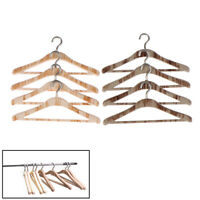 4/8Pcs 1:12 Dollhouse Miniature Wood Hangers Clothes Doll House Accessory TRFR