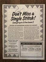 VINTAGE Quilter's Newsletter Magazine September 1988 No. 205 RARE