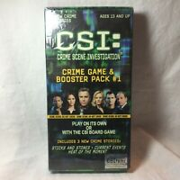 CSI CRIME SCENE GAME & BOOSTER PACK #1 3 NEW CRIME CASES TV Series SEALED NEW
