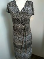 LAURA ASHLEY SIZE 14 OCCASION DRESS, CROSS OVER AT BUST.