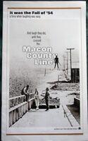 Macon County Line starring Max Baer Jr orig 1974 Movie Pressbook