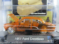 M08  11300 01  M2 MACHINES CLEARLY AUTO THENTICS 1951 FORD CRESTLINER  1:64 RARE