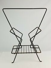 Mid-Century Wire frame Newspaper / Magazine rack Ashtray stand Hairpin style