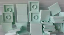 Lego Fliese 2x2 mit Nut Teil 3068b Light Aqua Pack 5 NEU ref:180