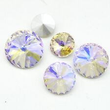 Champagne AB ELEMENTS Crystal glass Beads Rivoli /Oval /Teardrop/Round Wholesale