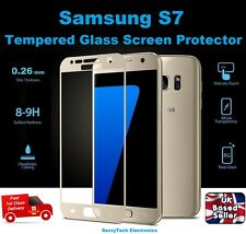 Full 3D Rounded Tempered Glass Film Screen Saver For Samsung Galaxy S7 GOLD