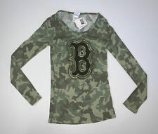 NEW Women's Boston Red Sox Camo Long Sleeve Shirt Size Small MLB Baseball