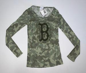 NEW Women's Boston Red Sox Camo Long Sleeve Shirt Size Small MLB Baseball