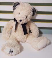PINK RIBBON DAVID JONES TEDDY BEAR PLUSH TOY SOFT TOY ABOUT 27CM SEATED KIDS TOY