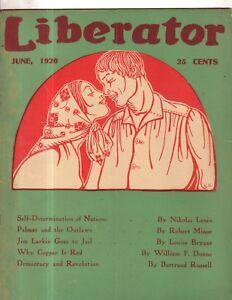 1920 Liberator June Socialist, Marxist-Rare-Lenin's speech; Democracy & Revolt