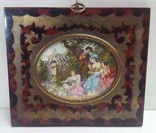 Haffke Miniatur  Gemälde nach Boucher 14 x 12 cm 162 /6