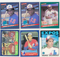 Andres Galarraga Expos Rookie 6 Card Lot 1986 Fleer Topps Traded Donruss Leaf RC