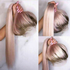 Luxury Lace Front Remy Light Baby Pink Glueless Full Lace Human Hair Wig Ombre