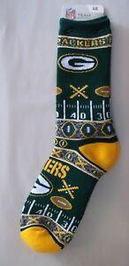 Green Bay Packers Socks Large Size 10  to 13 Super Fan