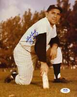 Yogi Berra PSA DNA Coa Hand Signed 8x10 Yankees Photo Autograph