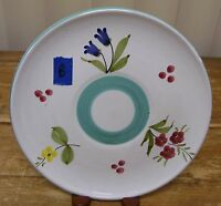 Gumps Italy Salad Plate Saucer Flower Hand Painted Floral Majolica Plate B